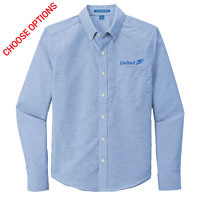 United Mens Untucked Fit Oxford Shirt
