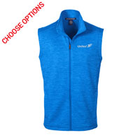 United Mens Melange Fleece Vest