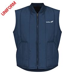 United Mens Red Kap Quilted Vest